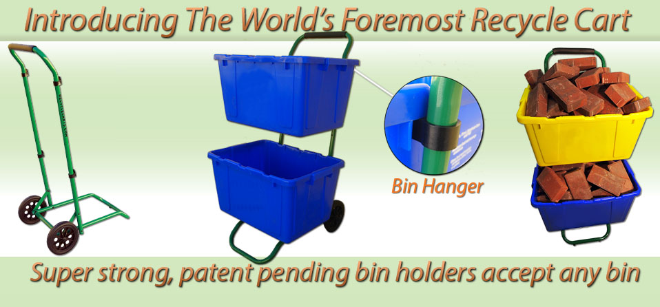 Save your back with Recycle Carts recycling bin carts.